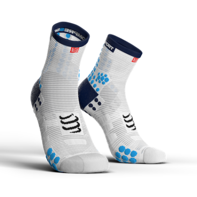 Pro Racing Socks v3.0 Run High White-Blue